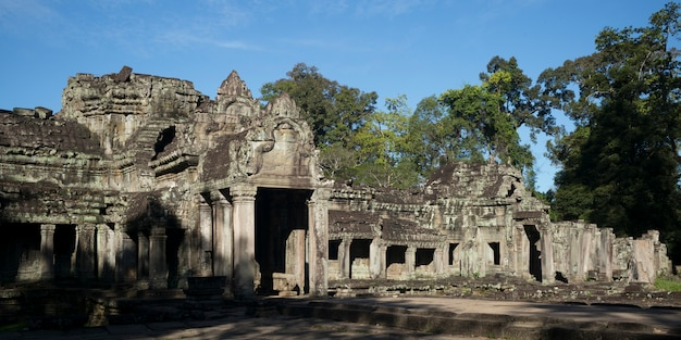 Ruins of banteay kdei temple, angkor, siem reap, cambodia Premium Photo