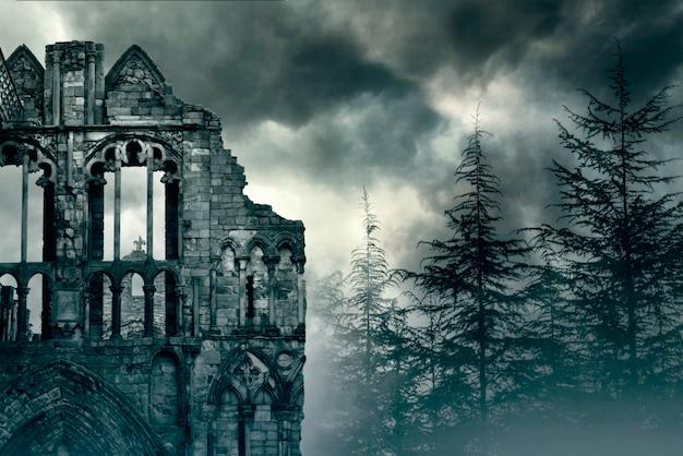 Руины старого замка в великобритании Premium Фотографии