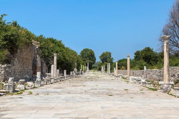 Руины древнего города эфес в турции Premium Фотографии