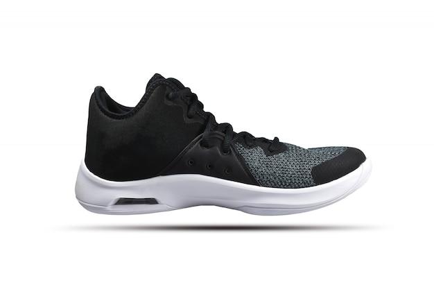 Running shoes on white background Premium Photo