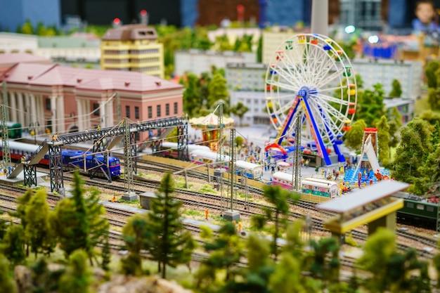 Russia in miniature grand layout in st. petersburg Premium Photo