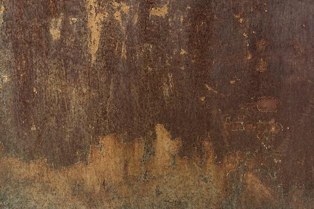 Fondo o struttura del metallo del grunge verniciato ruggine con graffi e crepe Foto Gratuite