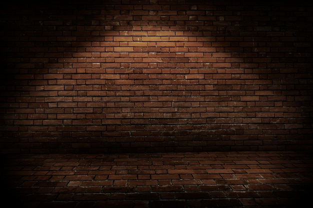 Rustic brick wall background Free Photo