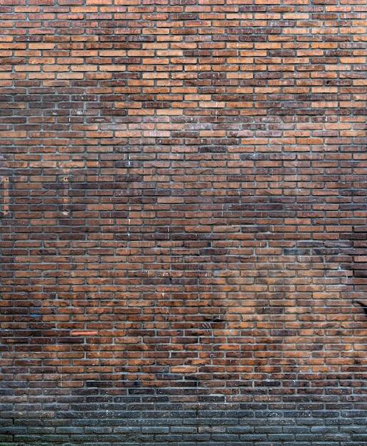 素朴なコピースペースレンガの壁の背景 無料写真