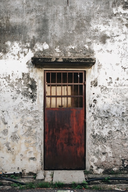 Rustic door and exterior of a house in penang Free Photo