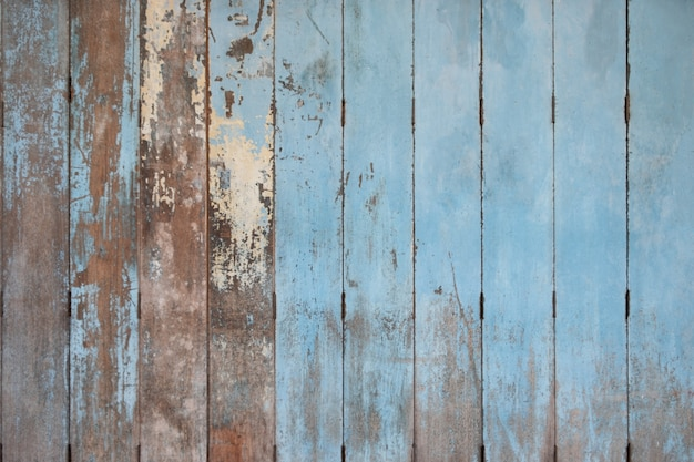Rustic old blue wooden background. wood planks Premium Photo