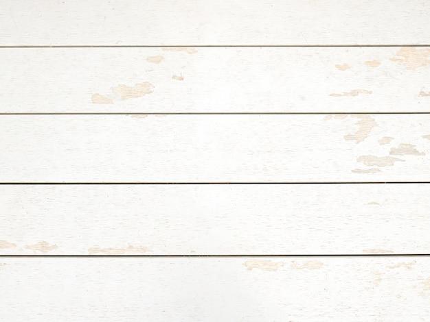 Rustic White Wood Plank Background. Vintage Style Premium Photo
