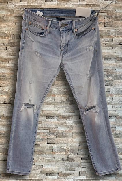 Изображение старых джинсовых джинсов rustick Premium Фотографии