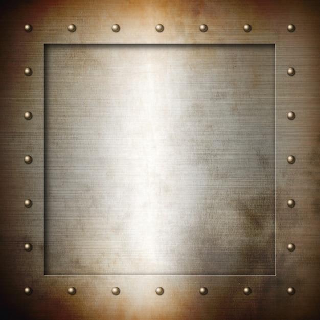 Rusty brushed steel frame Premium Photo