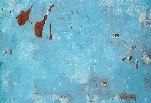Ржавый металлический гранж-фон. ржавая стальная олова абстрактный узор. Premium Фотографии