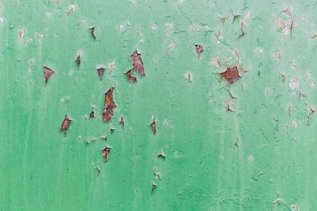 Ржавая красная и поцарапанная зеленая стена Бесплатные Фотографии