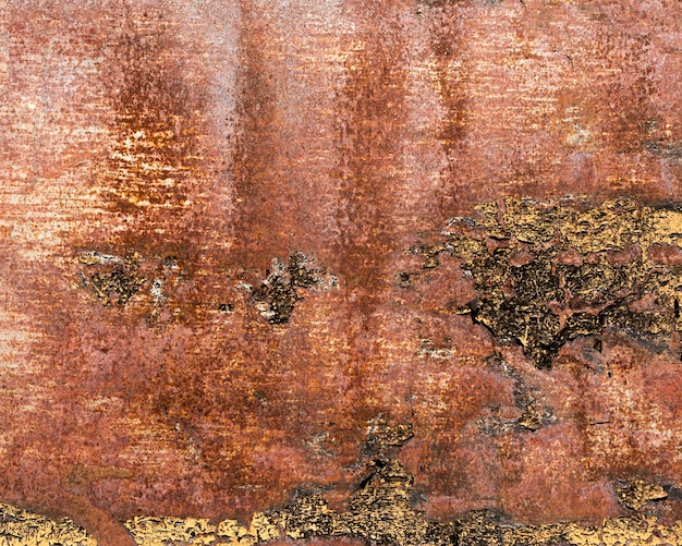 Rusty and scratched brown steel texture Premium Photo