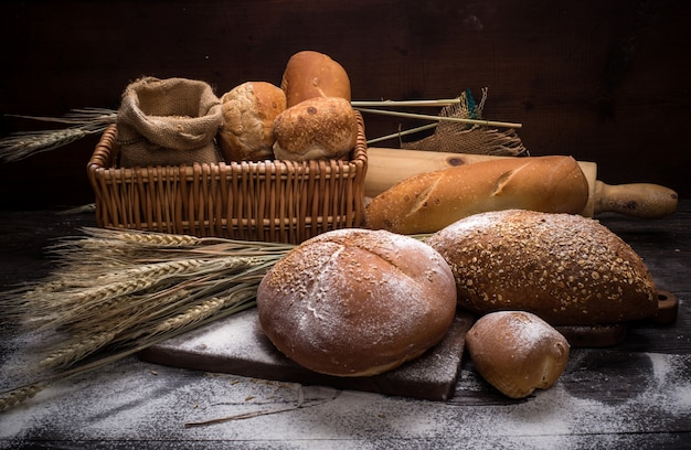 Rye sliced bread on the table Free Photo