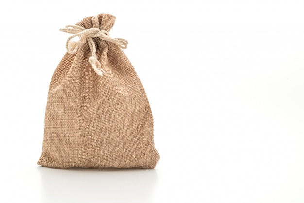 Sack fabric bag isolated Premium Photo