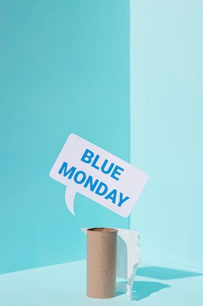 Concetto di lunedì blu triste Foto Gratuite