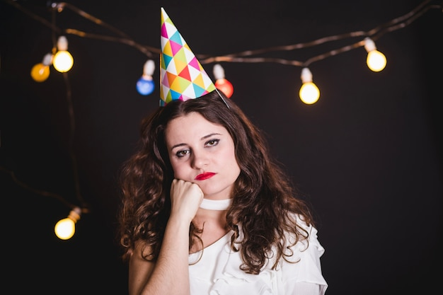 Sad Girl Alone At The Party Photo Free Download