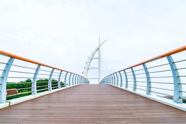 Saeyeongyo bridge between seaseom and seogwipo port in jeju island Premium Photo