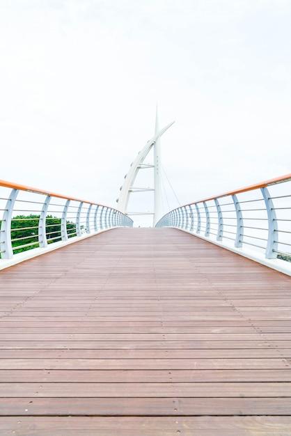 Saeyeongyo bridge between seaseom and seogwipo port in jeju island Premium Photo