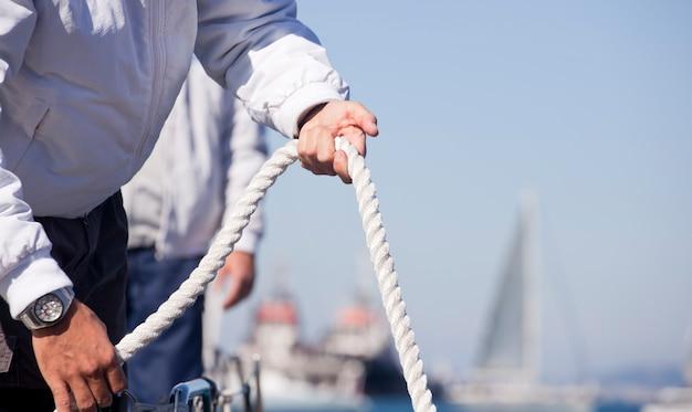 Sailors on deck Premium Photo