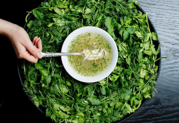 ハーブスープと薬salのハーブ 無料写真