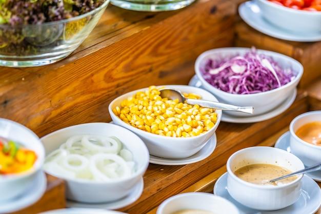 Salad bar for healthy Free Photo