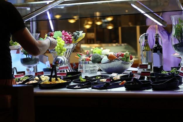 Salad buffet Premium Photo