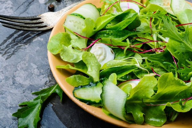 Salad with mix salad leaves Premium Photo