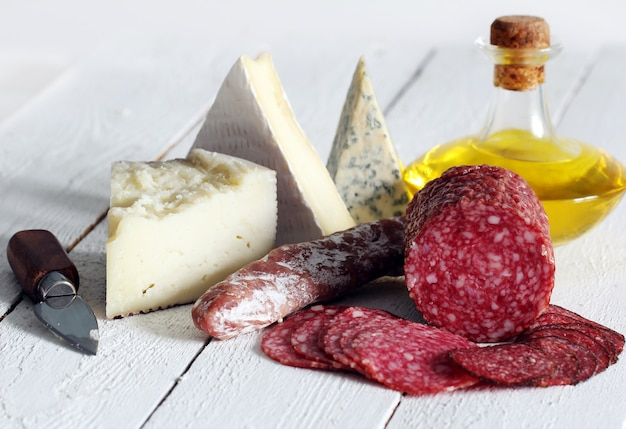 Salami and cheese Free Photo