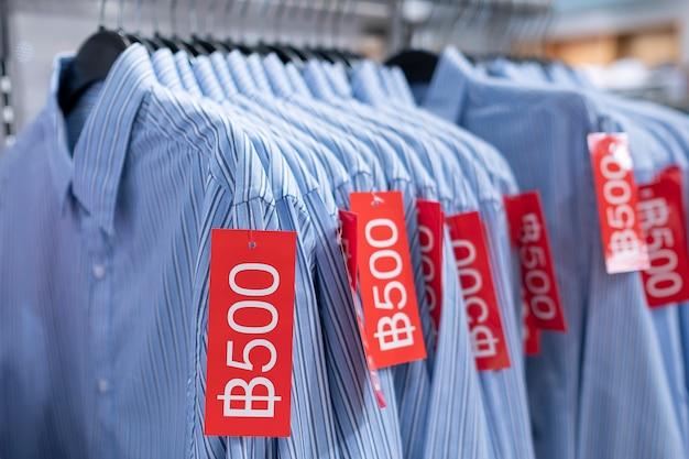Sale cloth in store Premium Photo