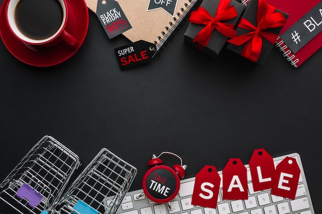 Sale concept with copy space Free Photo