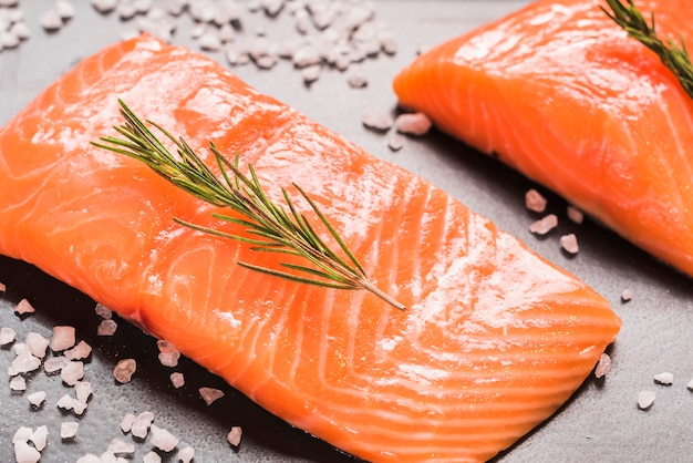 Salmon dish with herbs and spices Free Photo