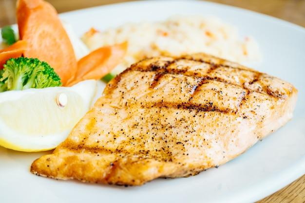 Salmon meat fillet steak Free Photo