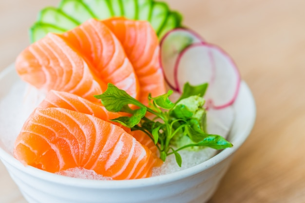 Salmon sashimi Free Photo
