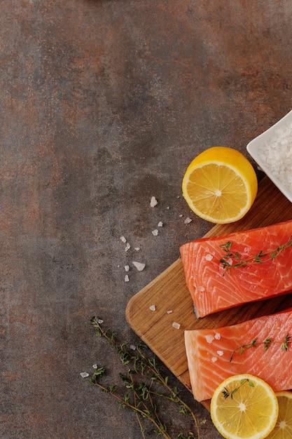 Fette di salmone, cibo sano Foto Gratuite