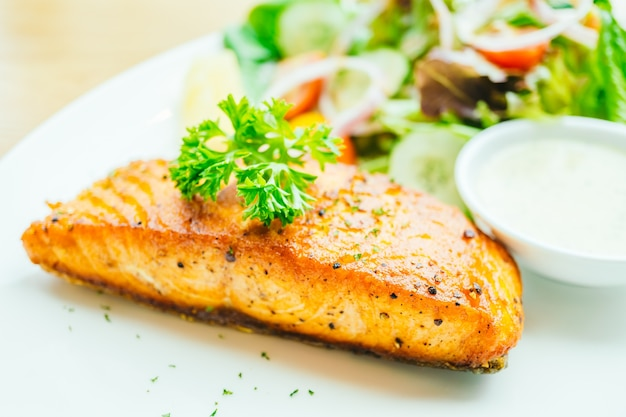 Salmon steak Free Photo
