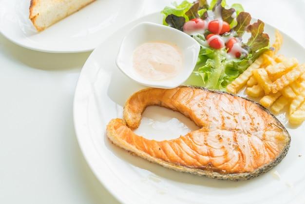 Salmon steak Free Photo