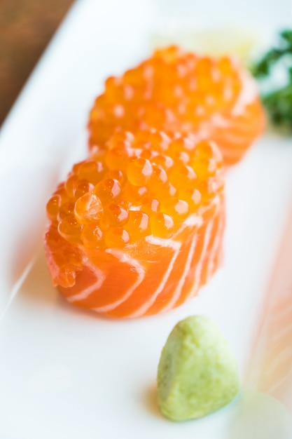 Salmon sushi Free Photo