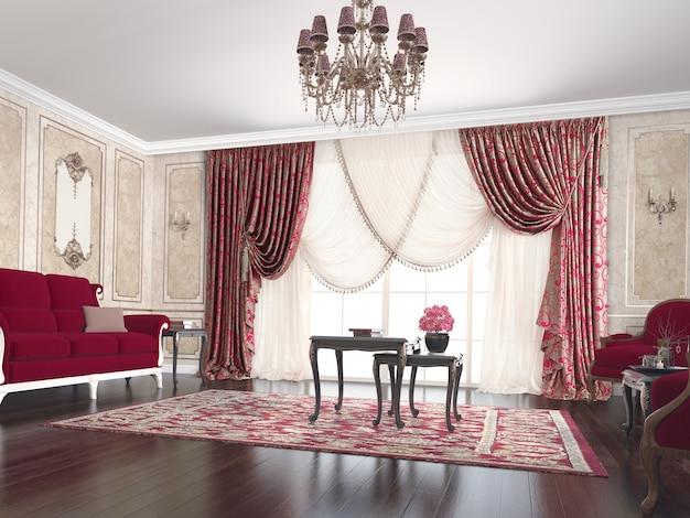 Salon with decoration Premium Photo