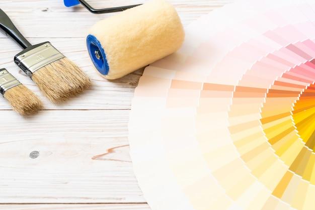 Sample colors catalogue pantone or colour swatches book Premium Photo