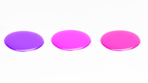 Sample of glossy nail polish color over white background Free Photo