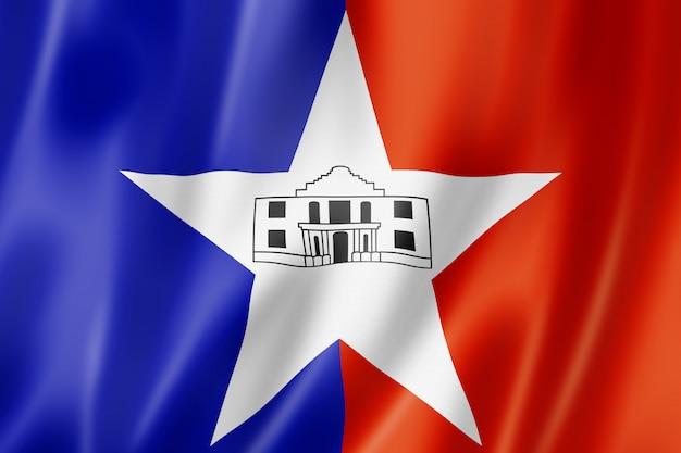 サンアントニオ市旗、テキサス、米国 Premium写真