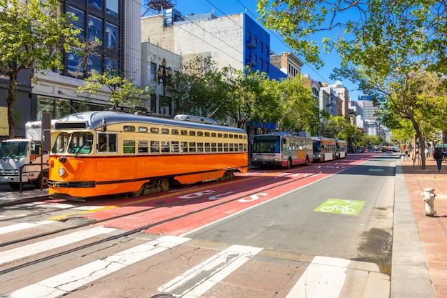 San francisco downtown street Premium Photo