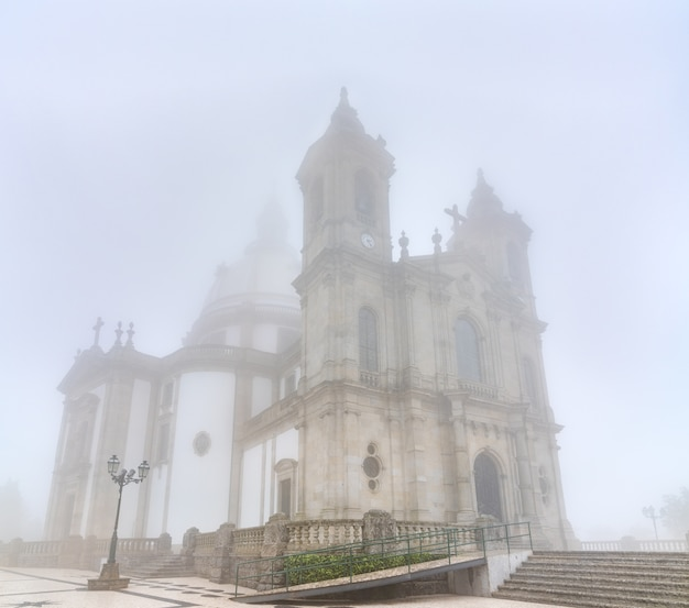 The sanctuary of our lady of sameiro near braga in portugal Premium Photo
