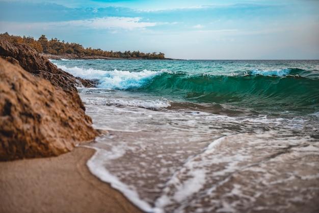 Sand beach in greece Premium Photo