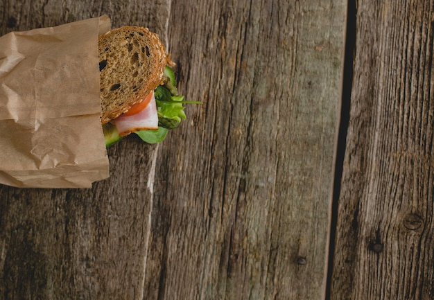 Sandwich on the table Free Photo
