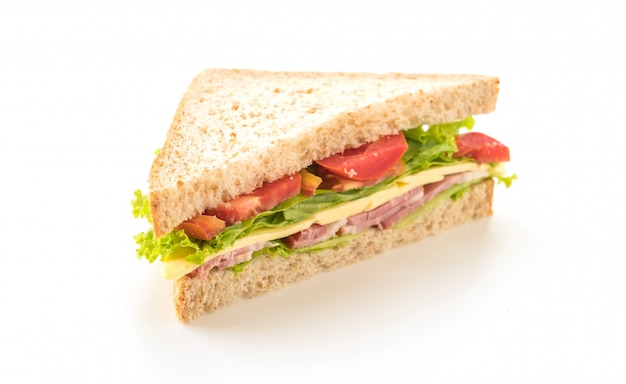 Sandwich Food On A White Background Free Images