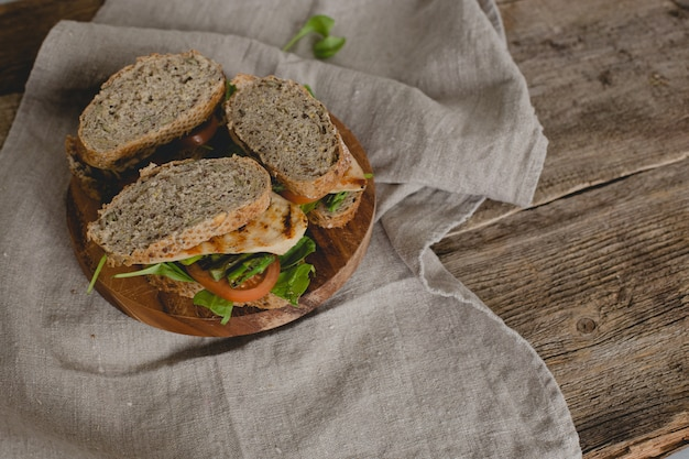 Sandwiches on the table Free Photo