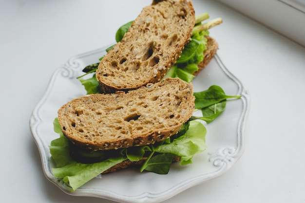 Sandwiches on the windowsill Free Photo