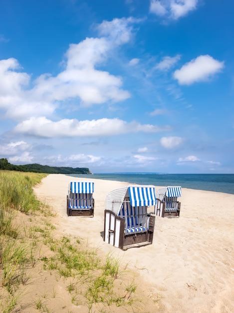 Sandy beach on island rugen, northern germany Premium Photo