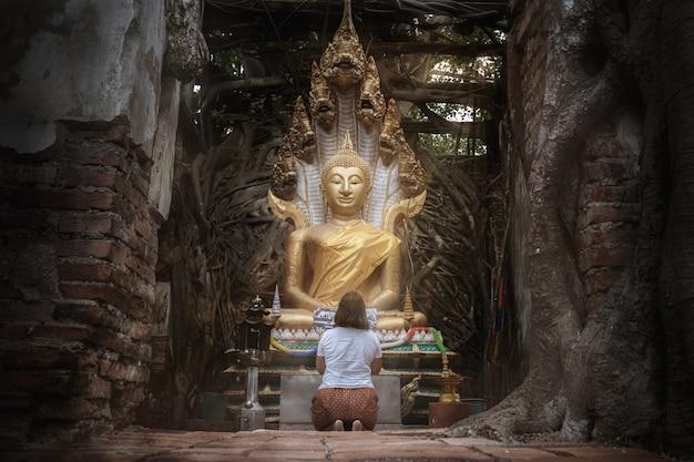 Sangkratai temple is a cultural tourism destination of thailand Premium Photo
